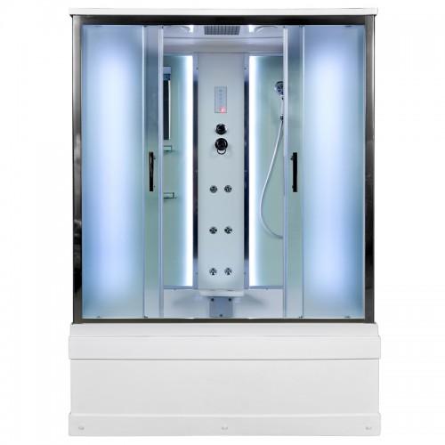 Душевой бокс Deto EM 4516 LED с гидромассажем (160x85)